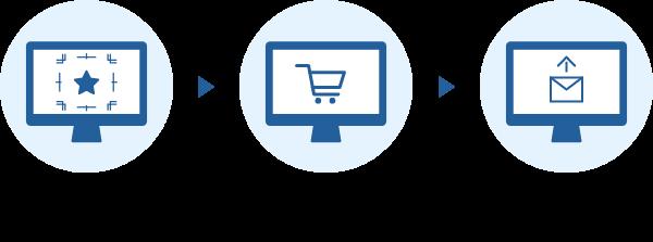 1、attaの制作用テンプレートでデータを作成_2、商品を購入_3、作成したデータを送る<br />
