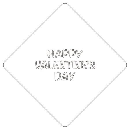 カフェアートステンシル バレンタイン絵柄3 LAS-0062