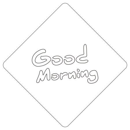 カフェアートステンシル GoodMorning LAS-0011 4573169220115