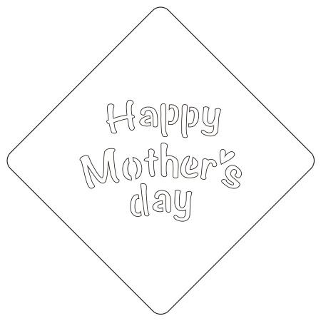 カフェアートステンシル Happy Mother's day LAS-0069