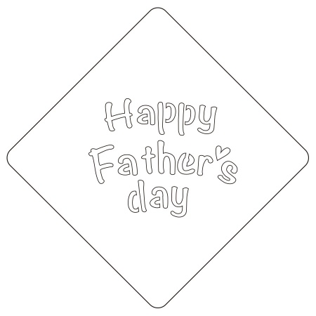 カフェアートステンシル Happy Father's day LAS-0072