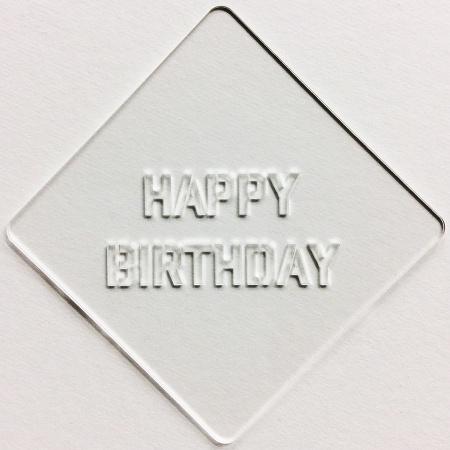 Happy Birthday 1 カフェアートステンシル LAS-0027