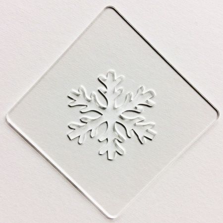 カフェアートステンシル 雪の結晶 1 LAS-0012