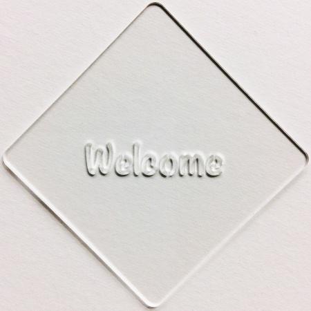 カフェアートステンシル Welcome 1 LAS-0023 4573169220238