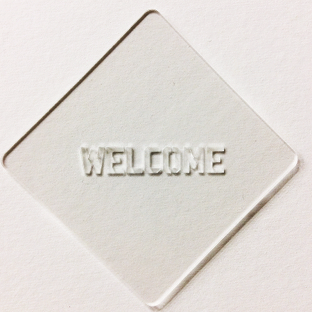 カフェアートステンシル Welcome 2 LAS-0024