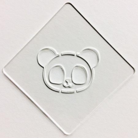 カフェアートステンシル パンダ LAS-0018