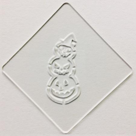 ハロウィンステンシル 団子パンプ カボチャ カフェアートステンシル LAS-0075