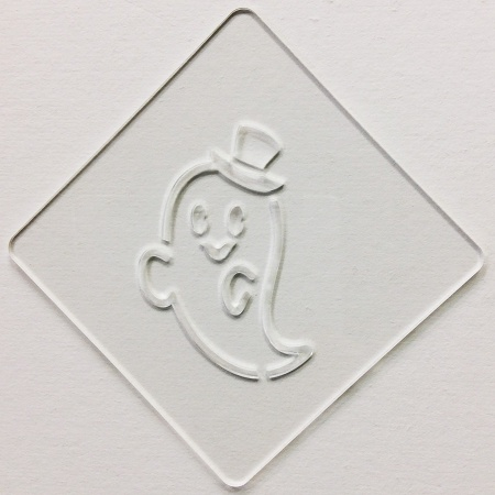ハロウィンステンシル おばけ カフェアートステンシル LAS-0077