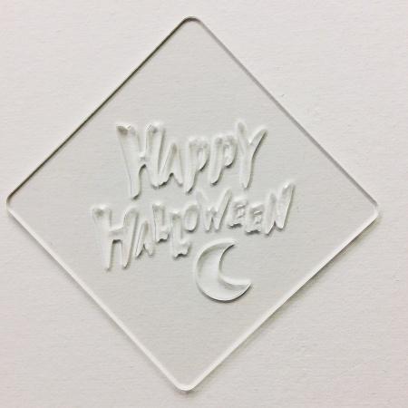 ハロウィンステンシル HAPPY HALLOWEEN カフェアートステンシル LAS-0080