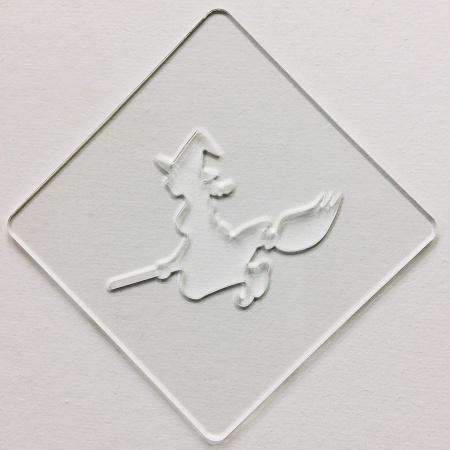 ハロウィンステンシル 魔女 カフェアートステンシル LAS-0082