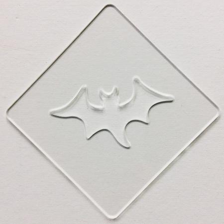 ハロウィンステンシル コウモリ カフェアートステンシル LAS-0083