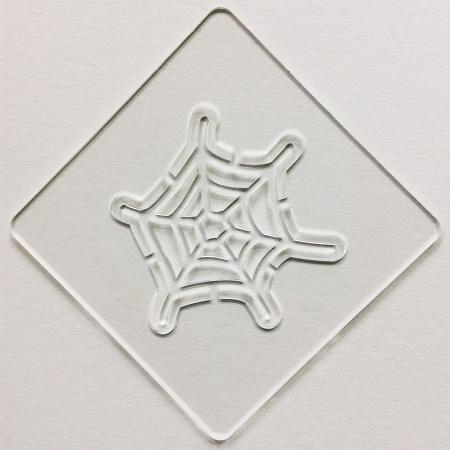 ハロウィンステンシル クモの巣A カフェアートステンシル LAS-0084
