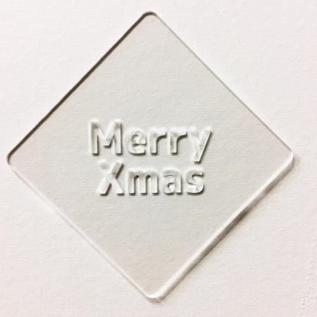 クリスマスステンシル Merry Xmas カフェアートステンシル LAS-0055