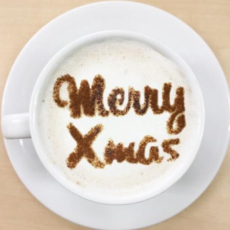 クリスマスステンシル MerryXmas2 カフェアートステンシル LAS-0091