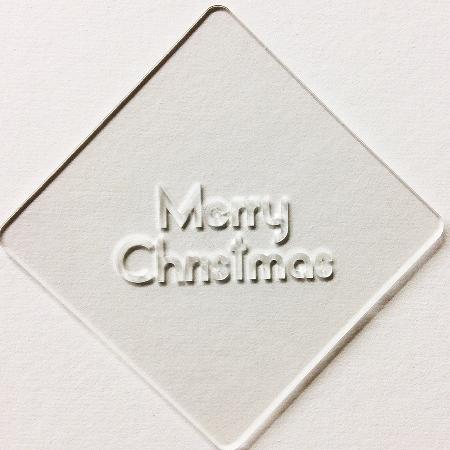 クリスマスステンシル Merry Christmas カフェアートステンシル LAS-0051