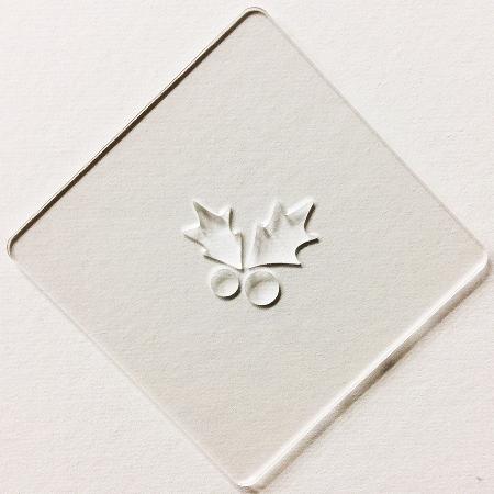 クリスマスステンシル 柊 カフェアートステンシル LAS-0053