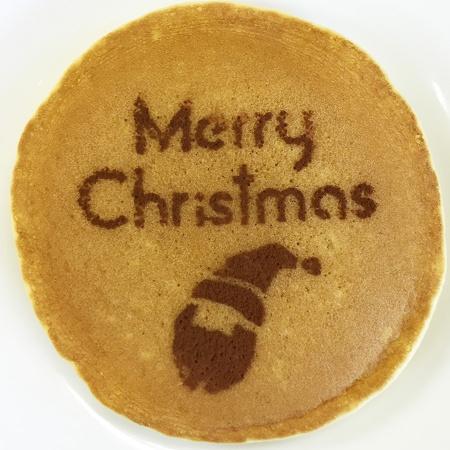 クリスマスステンシル サンタクロース カフェアートステンシル LAS-0054