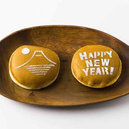 カフェアートステンシル HAPPY NEW YEAR お正月 日本 LAS-0099
