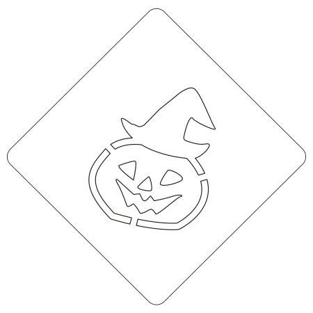 ハロウィンステンシル 帽子パンプ カボチャ カフェアートステンシル LAS-0074