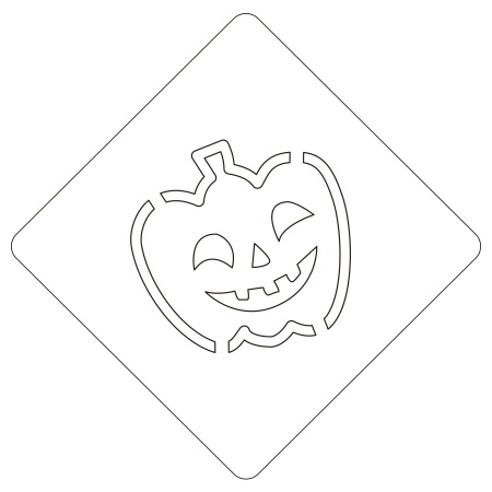 ハロウィンステンシル スマイルパンプ カボチャ カフェアートステンシル LAS-0076