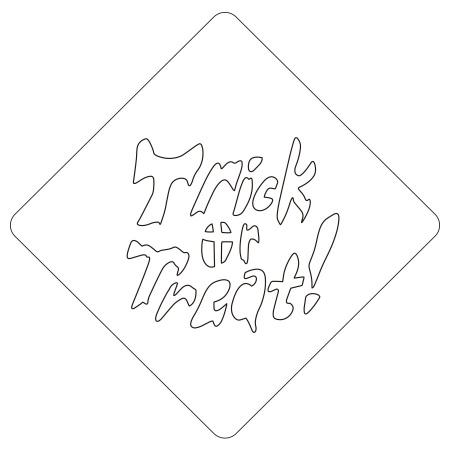 ハロウィンステンシル Trick or Treat カフェアートステンシル LAS-0078