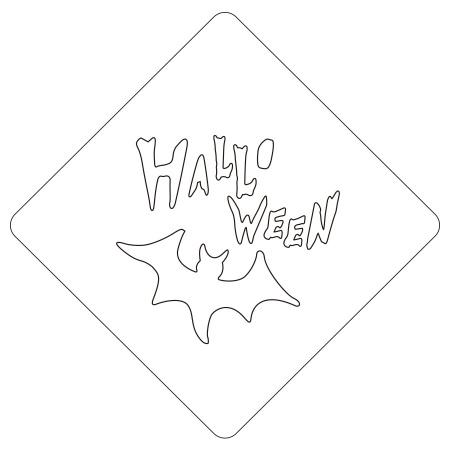 ハロウィンステンシル HALLOWEEN カフェアートステンシル LAS-0081