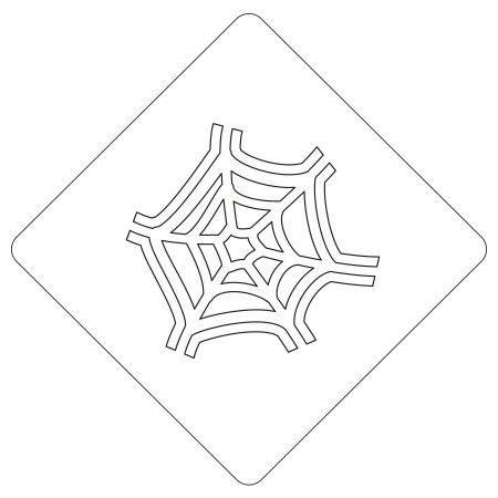 ハロウィンステンシル クモの巣B カフェアートステンシル LAS-0085