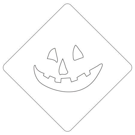 ハロウィンステンシル パンプフェイス1 カフェアートステンシル LAS-0086