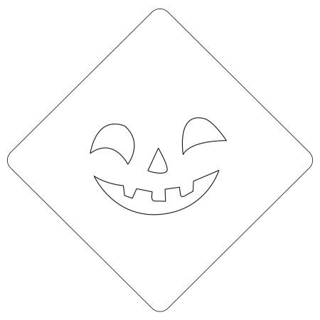 ハロウィンステンシル パンプフェイス2 カフェアートステンシル LAS-0087