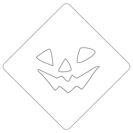 ハロウィンステンシル パンプフェイス3 カフェアートステンシル LAS-0088