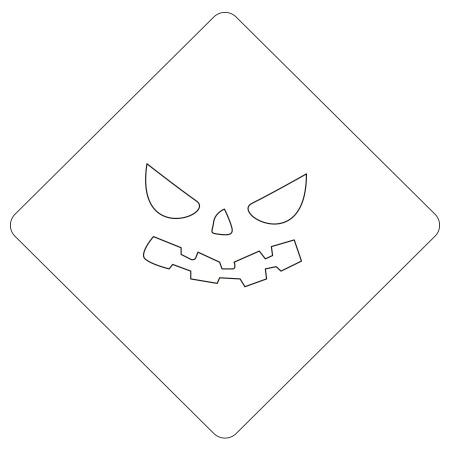 ハロウィンステンシル パンプフェイス4 カフェアートステンシル LAS-0089