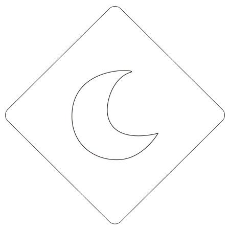 カフェアートステンシル 月 ムーン LAS-0090