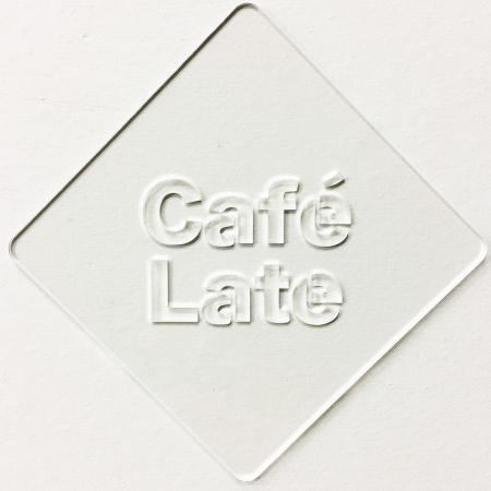 カフェアートステンシル Cafe Late LAS-0039