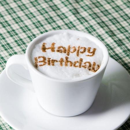 カフェアートステンシル Happy Birthday 2 LAS-0028 4573169220283