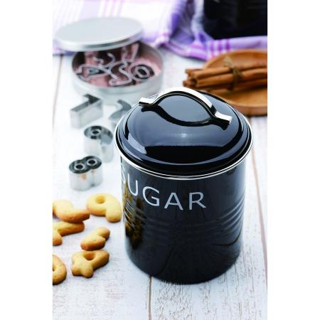バーネット キャニスター 黒 TEA SALUS(セイラス) 4521540244144 キッチン雑貨