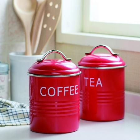 バーネット キャニスター 赤 COFFEE SALUS(セイラス) 4521540244182 キッチン雑貨