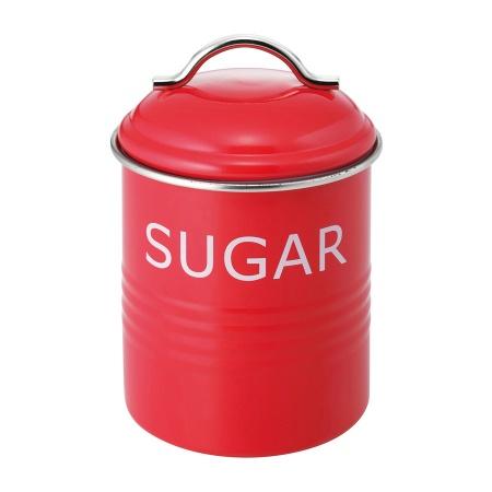 バーネット キャニスター 赤 SUGAR SALUS(セイラス) 4521540244199 キッチン雑貨