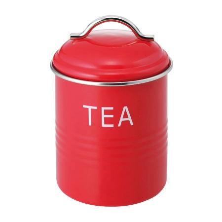 バーネット キャニスター 赤 TEA SALUS(セイラス) 4521540244175 キッチン雑貨
