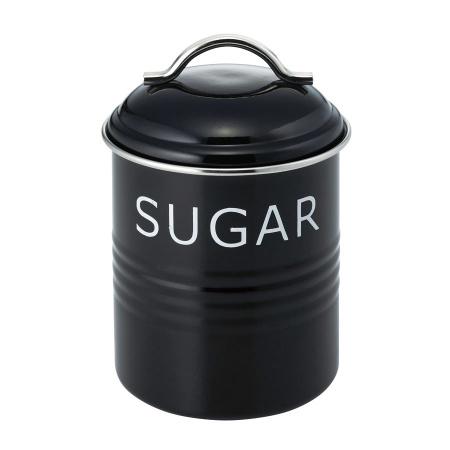 バーネット キャニスター 黒 SUGAR SALUS(セイラス) 4521540244168 キッチン雑貨
