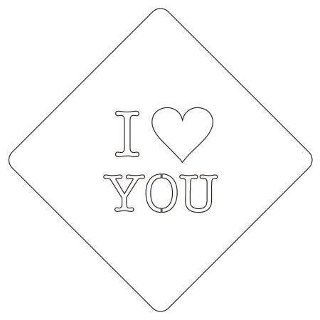 カフェアートステンシル I LOVE YOU LAS-0047 4573169220474
