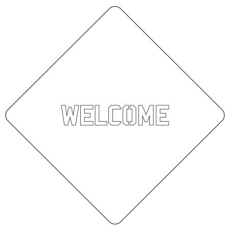 カフェアートステンシル Welcome 2 LAS-0024 4573169220245