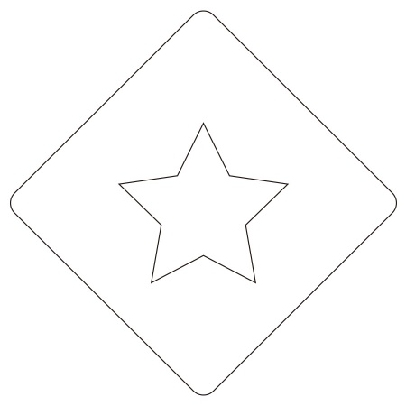 カフェアートステンシル 星 LAS-0002 4573169220023