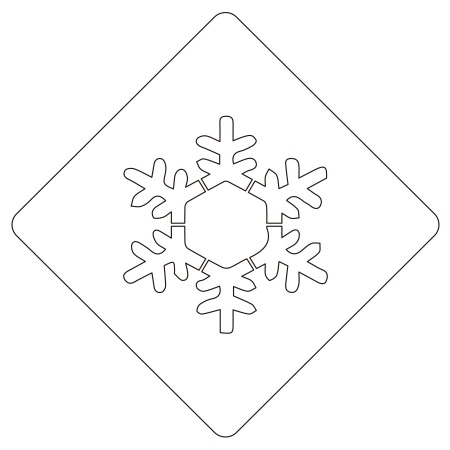 カフェアートステンシル 雪の結晶 2 LAS-0013