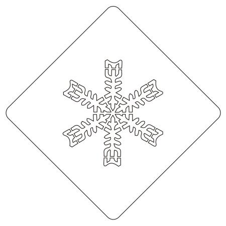 カフェアートステンシル 雪の結晶 3 LAS-0014