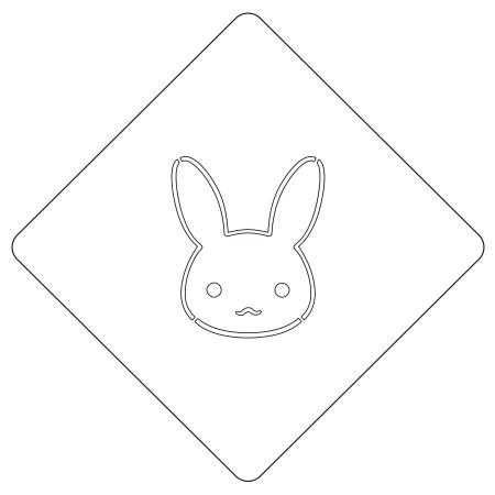 カフェアートステンシル うさぎ LAS-0017