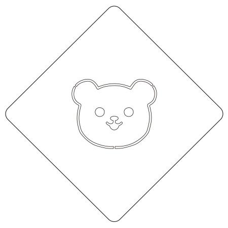 カフェアートステンシル クマ LAS-0019 4573169220191