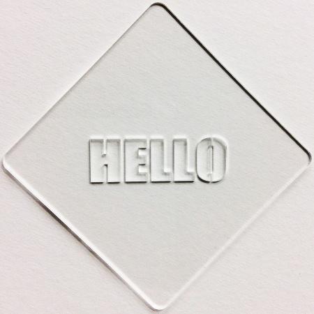 カフェアートステンシル Hello 2 LAS-0022