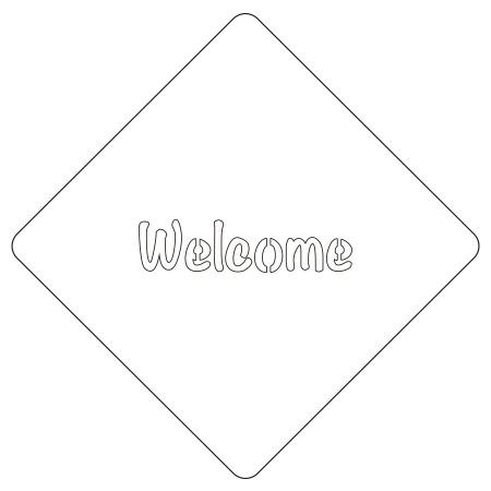 カフェアートステンシル Welcome 1 LAS-0023