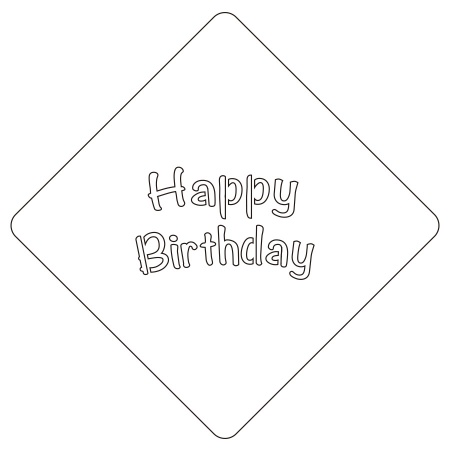 Happy Birthday 2 カフェアートステンシル LAS-0028