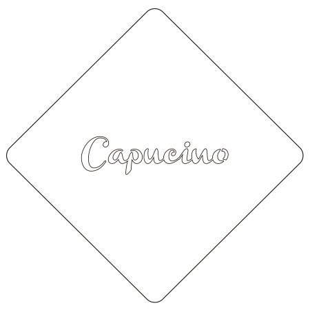カフェアートステンシル Capucino LAS-0040